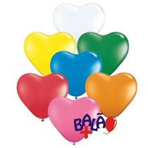 Balão Coração Amarelo Nº 6 Pacote Com 50 Unidades