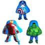 Balão Metalizado Vingadores Hulk, Homem De Ferro Kit/24 Balõ