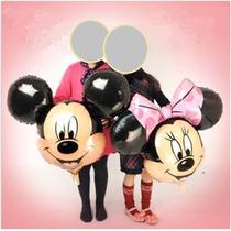Balão Metalizado Grande Mickey Ou Minnie Rosa 80x63 (unid)