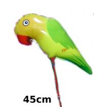 Kit 30un.balão Metalizado Animais Floresta Periquito De Mesa