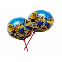 Balão Metalizado Minions De Mesa 21cm