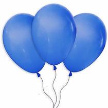 Balões São Roque N° 7 Azul Cobalto Com 50 Bexigas