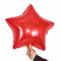 Balão Metalizado Estrela Vermelho - Kit 10 Balões