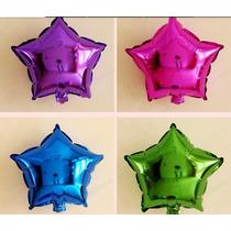 Balão Metalizado Estrela 21cm, Centro De Mesa - C/20 Balões