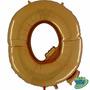 Balão Metalizado Letra Q Ouro 14 Polegadas 35 Cm
