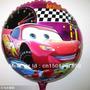 Balão Metalizado Carros Mcqueem Para Mesa 21 Cm C/ Vareta