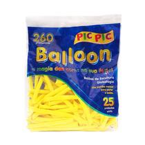 Bexiga Palito Balloon 260 Amarela - 25 Unidades Pic Pic 10