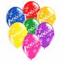 25 Balões/bexigas Estampa Parabéns - Sortidos