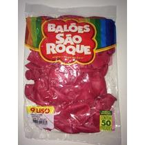 Kit Com 3 Pacotes Balão São Roque N 9 Rosa Shock