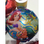 10 Balão Metal Pequena Sereia Com Vareta - Festa Infantil