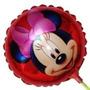 Balão Metalizado Minnie Laço Rosa Enfeite De Mesa 20 Balões