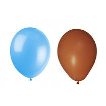 Balão Art-latex Nº7 - Bexiga Para Festa Marrom E Azul 100uni