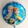 10 Balão Metalizado Frozen Elsa Ana 45cm Decoração Festa Gás