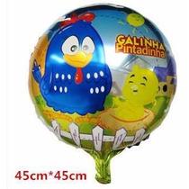 Frete Só R$4,00-pacote 20 Unid Balão Galinha Pintadinha 45cm