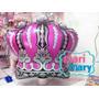 Kit 5 Und Balão Coroa Rosa Princesas - Festa,aniversario,inf