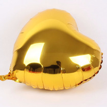 Balão Metalizado Coração Dourado Ouro Gás Hélio Bexiga 45cm