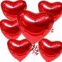 80 Balões Metalizados Coração Estrela 45cm Gas Festa Balão
