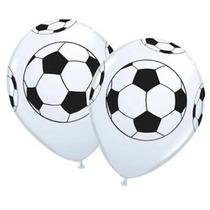 Balão Latex Branco Bola De Futebol Pacote C/ 50 R$ 45,00