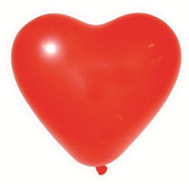 Kit De Balão Coração Vermelho Nº 06 Com 50 Com 5 Pacotes