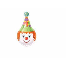 Balão Metalizado Circo Palhaço Tam. 45cm Licenciado