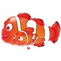 Balão Metalizado Nemo, Peixe, Fundo Do Mar - Kit 25 Balões