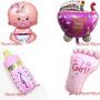 Kit C/ 4 Unid Balão Para Nascimento / Chá De Bebê Menina