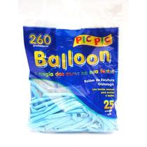 Bexiga Palito Balloon 260 Azul Claro - 25 Unidades Pic Pic