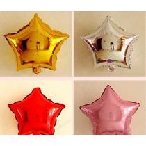 Kit C/ 10 Balão Metalizado Estrela 45cm R$ 25,99