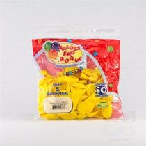 Kit Balão Látex Amarelo Citrino C/ 3 Pacotes Nº 05 São Roque