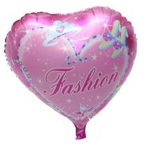 Balão Metalizado 45 Cm Coração . Caixa Com 50 Unidades