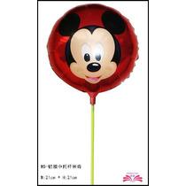 10 Unidades Balão Metalizado Mickey 21x21cm