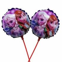 Balão Metalizado Frozen Centro Mesa Kit 20 Balões + Vareta