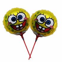 Kit 20 Balão Metalizado Bob Esponja 21cm Centro Mesa Festa