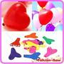 Balão Coração Colorido Nº 6 Pacote Com 100 Unidades