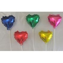 Balão Metalizado 9 Coração Caixa Com 50 Unidades