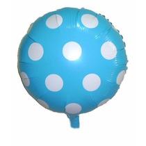 Balão Metalizado Chá De Bebê Azul Caixa Com 48 Unidades