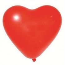 Pacote C/ 50un Balão Bexiga De Coração Vermelha N10