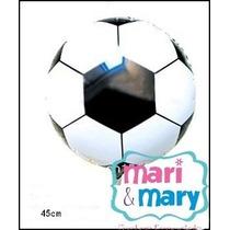 Kit 5 Und Balão Metalizado Bola De Futebol Pronta Entrega