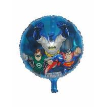 Balão Metalizado Liga Da Justiça Kit Com 10 Baloes