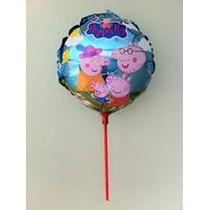 Balão Metalizado Pepa Pig Kit C/ 15 Unid 21cm