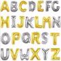 Balão Metalizado Letras E Números Dourados Ou Patreado