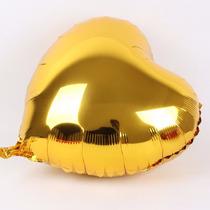 Balão Metalizado Estrela, Coração Dourado Pacote 50 Balões