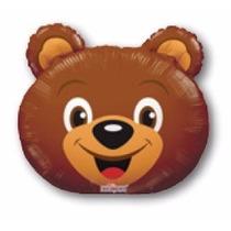 Balão Metalizado Urso Animais Safari 35cm_centro De Mesa