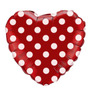 Balão Coração Vermelho Com Bolinhas Tam.45cm Minnie Kit C/2