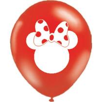 Kit C/ 30un Balão Bexiga N10 Da Minnie P/ Aniversário