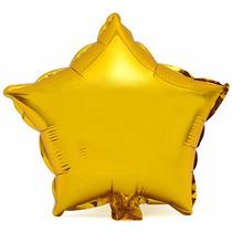 Kit C/ 10 Balão Estrela Metalizado 45cm - Dourado
