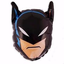 10 Balão Batman Cabeça Grande Gás Hélio Decoração Festa Ar