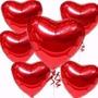 Balão Metalizado Coração Enfeite De Mesa Tam:21cm Kit/20 Un