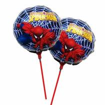 Kit 20 Balão Metalizado Homem Aranha 21cm Centro Mesa Festa