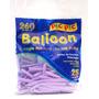 Bexiga Palito Balloon 260 Lilas - 25 Unidades Pic Pic 1016